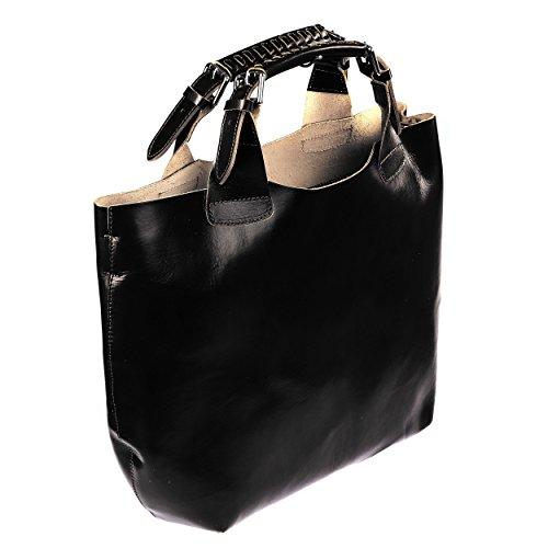 Bags4Less XXL Beuteltasche Echtes Leder Shopper