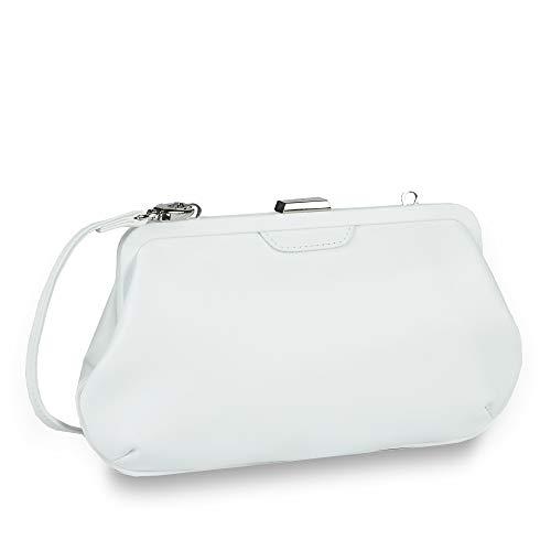 Picard Auguri Clutch Bag 4784 Damen Abendtasche Leder 27x16x4 cm (BxHxT), Farbe:Weiss