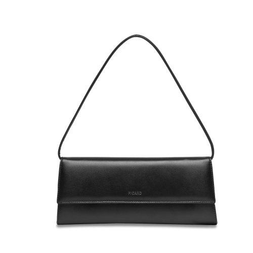 Picard Auguri 4022 elegante Nappa Leder Clutch Abendtasche klassisch schwarz , 26x11x3 cm (B x H x T)