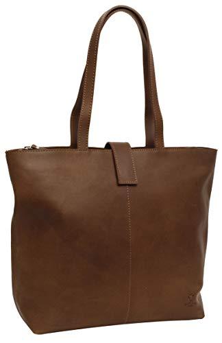 Gusti Handtasche Leder Studio Alexandra Shopper Ledertasche Braun