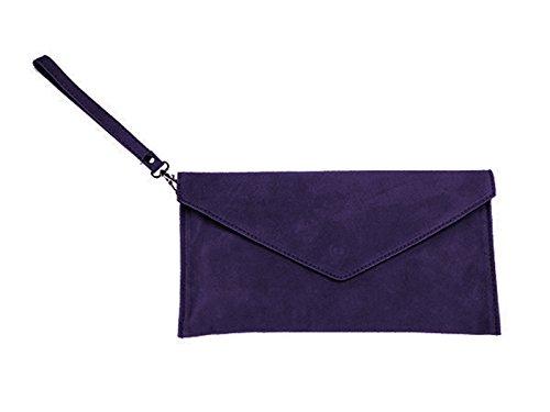 scarlet bag | Umhängetasche aus echtem Leder | Damen Handtasche Tasche Henkeltasche; 31,5 x 16,5 x 1,0 cm (lila)