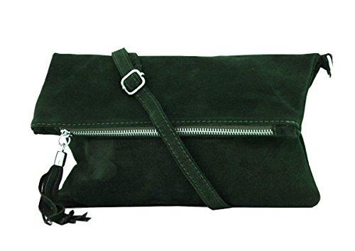 zarolo Damen Umhängetasche,Tasche klein, Schultertasche, Cross Body, Leder Clutch echtes Leder, Handtasche Italienische Handarbeit M20601