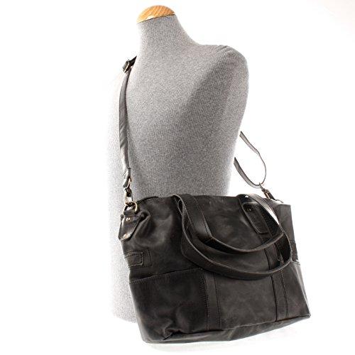 Henkeltasche Handtasche Damentasche Ledertasche Shopper rot Kroko-Prägung Leder