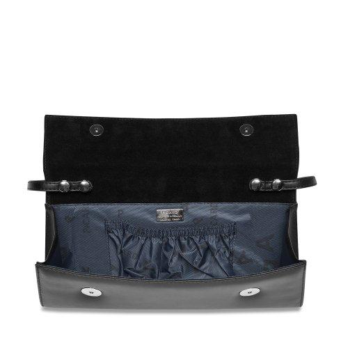 B x H x T 26x11x3 cm Picard Auguri 4022 Elegante Nappa Leder Clutch Abendtasche klassisch schwarz