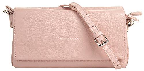 Cluty Umhängetasche rosa echt Leder Damen – 018941