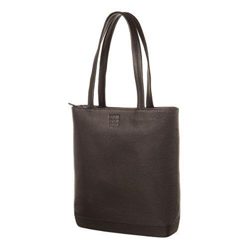 Moleskine Klassischer Shopper Leder bis 13 Zoll Sporttasche, Schwarz