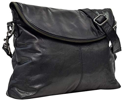 Gusti Leder 'Gardenia' Handtasche Umhängetasche Abendtasche Schwarz Leder