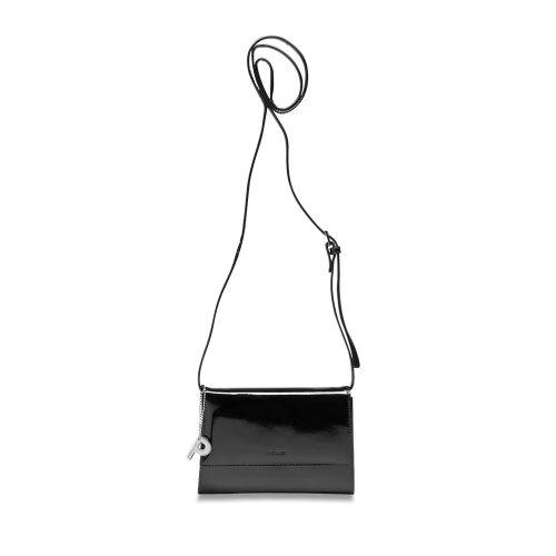 Picard Auguri 4021 schwarz-lack , Leder Abendtasche , Clutch , Schultertasche , Handgelenktasche , Umhängetasche , Ledertasche