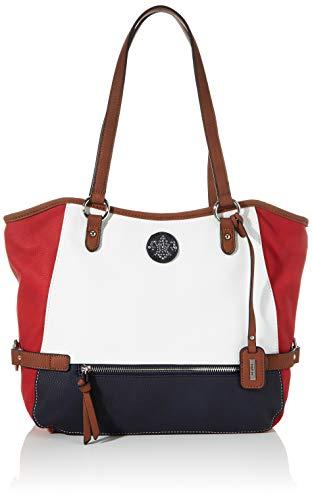 Rieker Damen Handtasche Henkeltasche, Mehrfarbig (Bianco/Rosso/Pazifik), 280x130x400 cm
