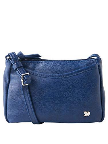 Tom Tailor Denim Damen Cilia Umhängetasche, Blau (Blau), 4x14x21.5 cm