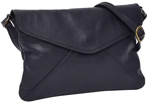 Gusti Leder 'Karisma' Umhängetasche Handtasche Ledertasche Vintage Schwarz Leder