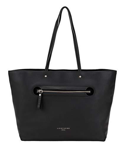 Liebeskind Berlin Damen Mini Daily 2 – Shopper Large Schultertasche, Schwarz (Black), 14x28x40 cm