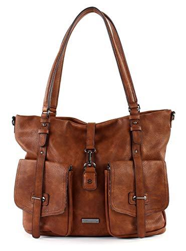 Tamaris Damen Handtasche mit praktischer Fächereinteilung by, Cognac, 0