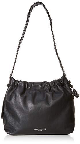 Liebeskind Berlin Damen Braided Bag Hobo Medium Schultertasche, Schwarz (Black), 14.0×26.0x29.0 cm