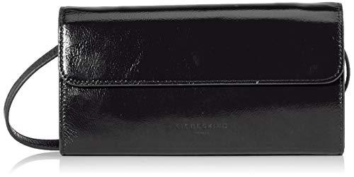 Liebeskind Berlin Damen Glossy Slg – Samantha Crossbody Small Umhängetasche, Schwarz (Black), 3x13x23 cm