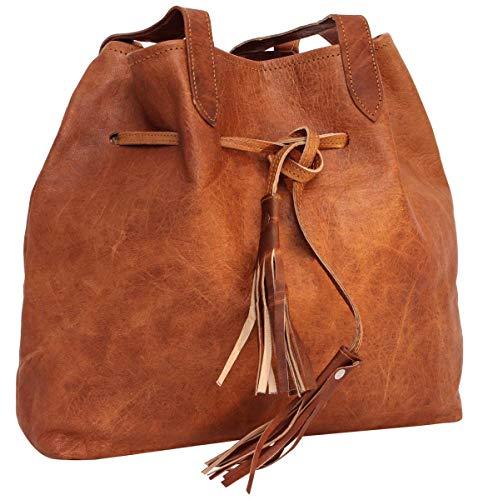 Gusti Umhängetasche Leder – Phoebe Shopper Ledertasche Handtasche Braun