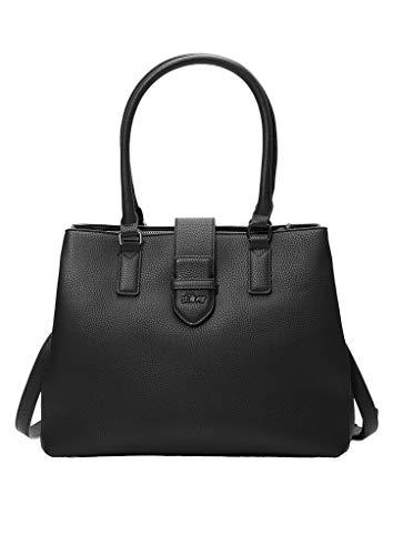 s.Oliver RED LABEL Damen Shopper in Leder-Optik black 1