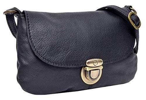 Gusti Leder 'Rona' Umhängetasche Handtasche Ledertasche Vintage Schwarz Leder