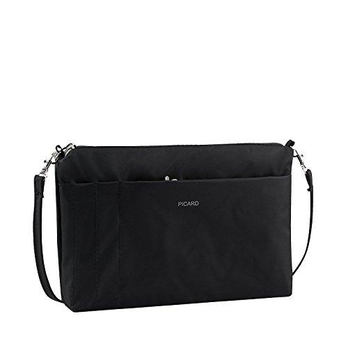 Picard Switchbag Umhängetasche aus Synthetik Nylon, Karabiner, Steckfächer, Trageschlaufe und Reissverschluss – Taschenorganizer 15 x 20 x 3 cm (H/B/T) Damen (7841)