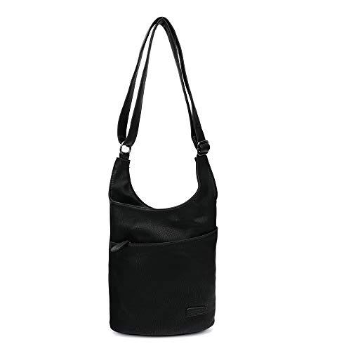 2-TAGE-LIEFERZEIT: Damen Umhängetasche – Schultertasche Schwarz – Damenhandtasche – Handtasche – Crossbody – Messenger Bag – Shopper Tasche – premium Tote
