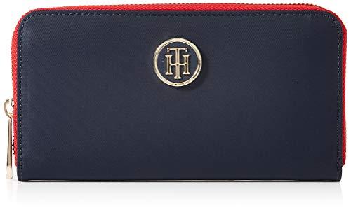 Tommy Hilfiger Damen Poppy Lrg Za Wallet Geldbörse, Blau (Tommy Navy), 14×3.5×20 cm