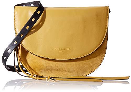 Liebeskind Berlin Damen Dive Bag Suede Clutch Small, Gelb (Gelb (Tawny Yellow), 2.0×21.0x21.0 cm