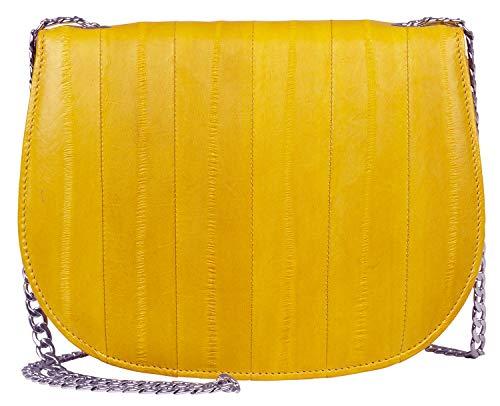 Becksöndergaard Aalleder Handtasche Linda Gelb – Kleine Schultertasche mit Abnehmbarem Riemen zur Clutch – Sommerfarbe Gelb Tolles Leder