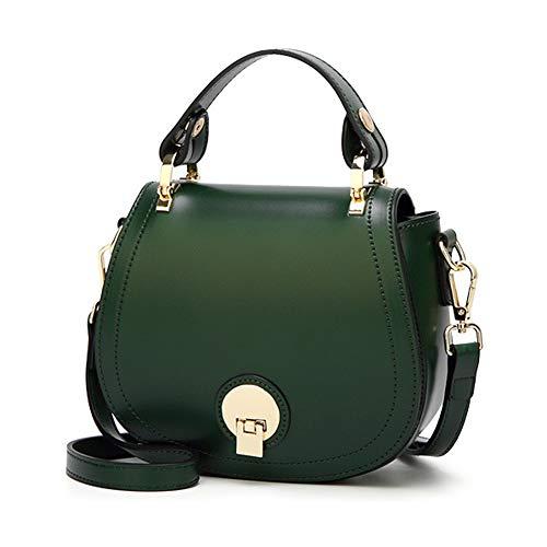 Mini Frauen Umhängetasche Pu-Leder Kleine Handtaschen Abend Handtasche Clutch mit 2 Abnehmbaren Schultergurten Handy Cross Body Bag,Green-17 * 7 * 18cm