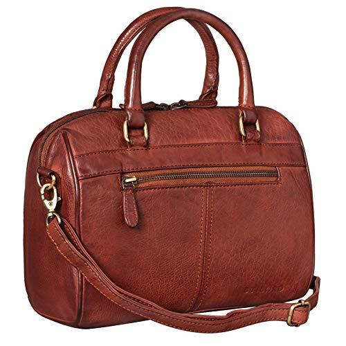 STILORD 'Cassandra' Leder Handtasche Damen Fashion-Tasche Ledertasche Henkeltasche Umhängetasche und Schultertasche Echtleder, Farbe:Cognac – Used