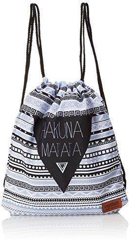 Loomiloo Beutel Hakuna Matata – Turnbeutel – Sportbeutel – Tasche für Kinder und Erwachsene – Rucksack – für Damen und Herren – Disney Geschenk