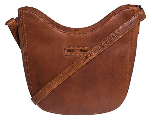 Hill Burry Damen Shopper | aus weichem hochwertigem Rindsleder – Vintage Bag Beutel | Umhängetaschen Schulterbeutel – Abendtasche | Handtasche – Schultertasche (Braun)