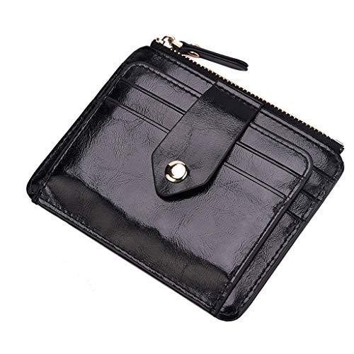 Sunnywill Damen Geldbörsen Groß Viele Fächer Leder Glitzer mit ReißVerschluss Vintage Short Multifunktional Münzfach mit Münzfach
