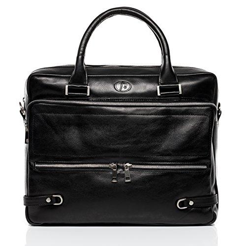 FERGÉ Laptoptasche echt Leder Beth groß Businesstasche Umhängetasche Aktentasche Laptopfach 15.6