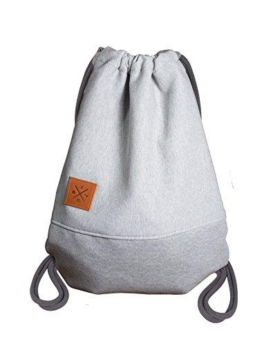 Sweat Sports Bag – Rough Jersey/Sweat Rucksack Hoodie Gym Bag Turnbeutel Sport Beutel Tasche Manufaktur13 M13