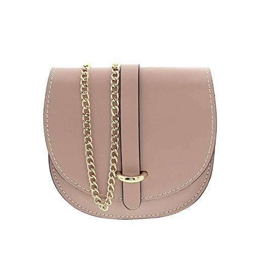 IO.IO.MIO kleine leichte Damentasche Abendtasche Umhängetasche Schultertasche Citybag echt Leder Rose