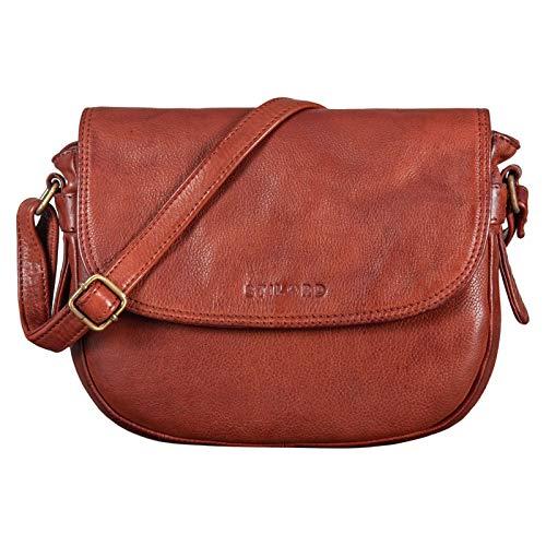 STILORD 'Loreen' Frauen Handtasche Klein Leder Tasche Damen Umhängetasche zum Ausgehen Elegante Abendtasche Partytasche Freizeittasche Echtes Vintage Leder, Farbe:Cognac – Used