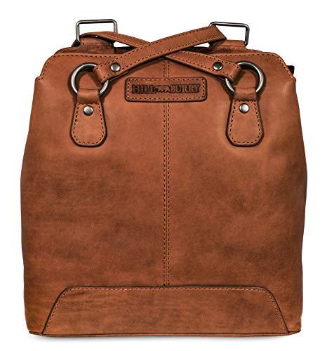 Hill Burry Damen Schulterbeutel | aus weichem hochwertigem Rindsleder – Vintage Bag Beutel | Umhängetaschen – Abendtasche | Handtasche – Schultertasche (Braun)