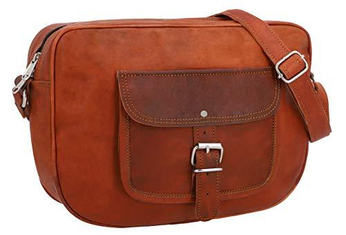Gusti Handtasche Leder – Randy Umhängetasche Ledertasche Abendtasche Vintage Braun Leder