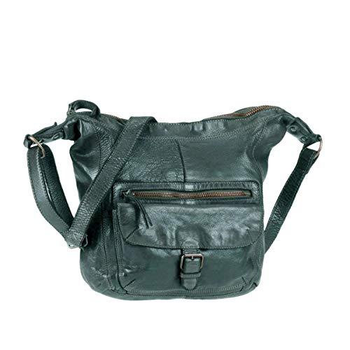 Bear-Design Shopper Beuteltasche Schultertasche Anna CL32612 gewaschenes Leder Vintage Used Look 30/27/9 cm