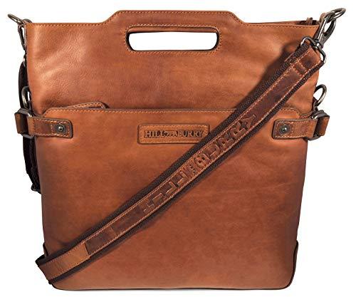 Hill Burry Damen Shopper Leder | aus weichem hochwertigem Rindsleder – Vintage Elegante Abendtasche | Umhängetaschen Schulterbeutel – Fashion Bag Beutel | Schultertasche – Handtasche