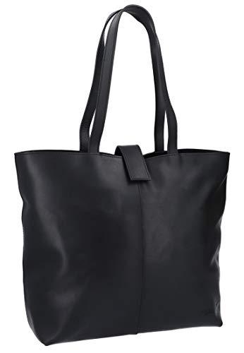 Gusti Shopper Leder – Alexandra Handtasche Damen Arbeitstasche Schwarz Leder