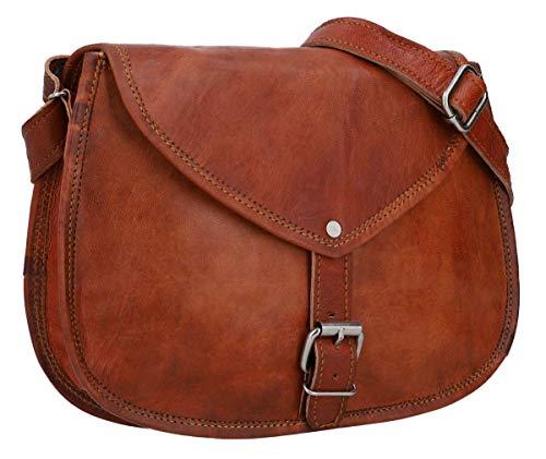 Gusti Handtasche Leder – Charleen Umhängetasche Ledertasche Abendtasche Vintage Braun Leder