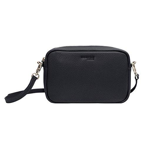 CHI CHI FAN Missy Mini Bag Marine | Damen Clutch aus echtem Leder | Top Qualität und Design treffen auf maximale Funktion | Perfekt für Alltag und besondere Anlässe | Platz für Handy, Schlüssel etc